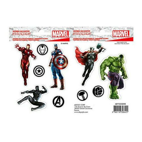 Marvel Comics Avengers Mini Stickers Set Decals